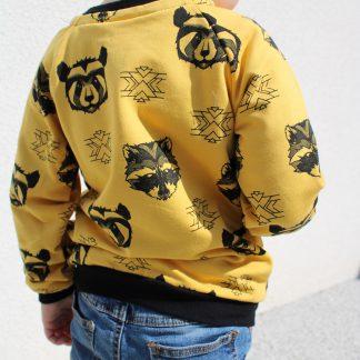 bluza w szopy żółta