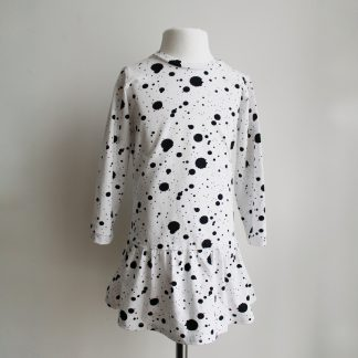 sukienka w kleksy
