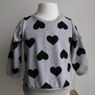 Szara bluza w serca