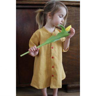 lniana sukienka dziecięca